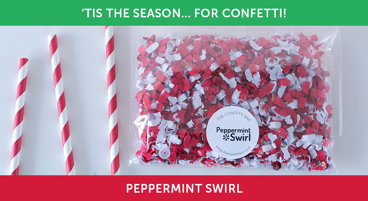 Tis the Season... for Confetti! Peppermint Swirl