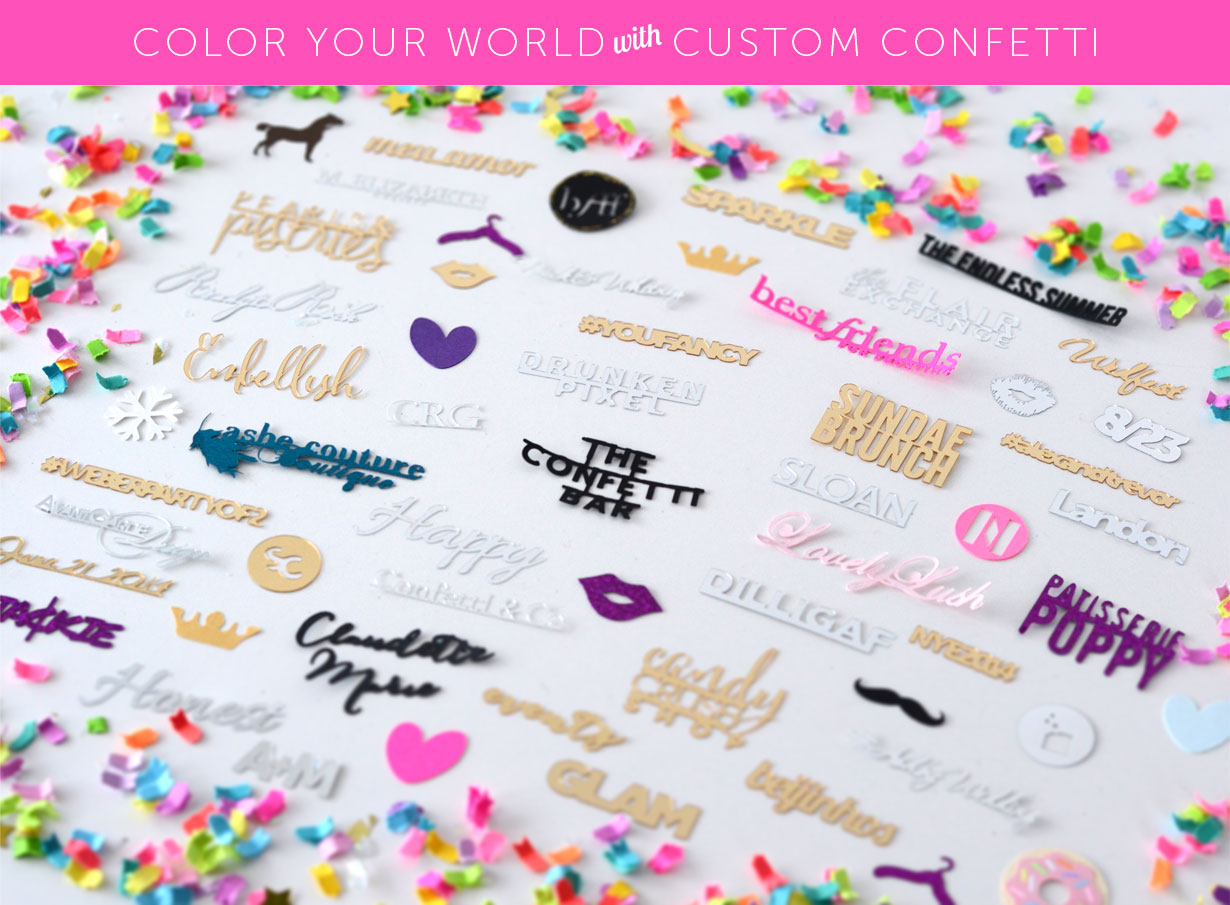 Color Your World with Custom Confetti